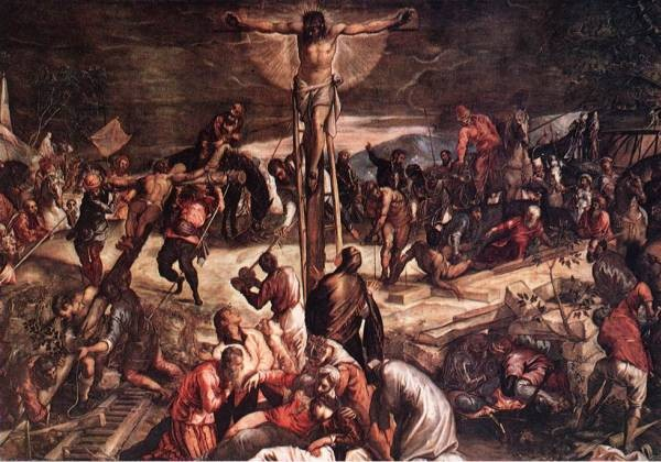 Tintoretto Crucifixion detail1
